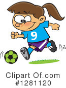 Royalty-Free (RF) Soccer Clipart Illustration #1281120