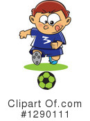 Royalty-Free (RF) Soccer Clipart Illustration #1290111