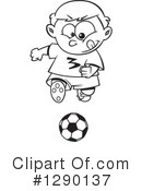 Royalty-Free (RF) Soccer Clipart Illustration #1290137