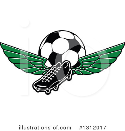 Football Clipart #1312017 by Vector Tradition SM