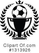 Royalty-Free (RF) Soccer Clipart Illustration #1313926
