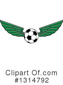 Royalty-Free (RF) Soccer Clipart Illustration #1314792