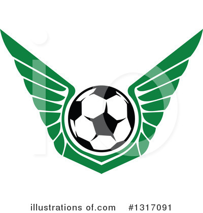 Soccer Clipart #1317091 by Vector Tradition SM