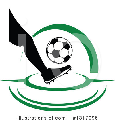 Football Clipart #1317096 by Vector Tradition SM
