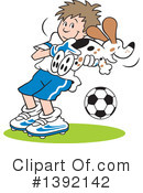Soccer Clipart #1392142 by Johnny Sajem