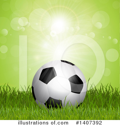 Royalty-Free (RF) Soccer Clipart Illustration by KJ Pargeter - Stock Sample #1407392