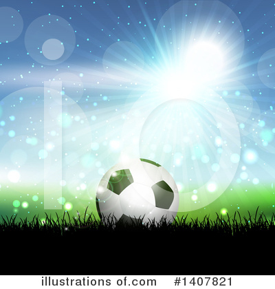 Royalty-Free (RF) Soccer Clipart Illustration by KJ Pargeter - Stock Sample #1407821
