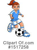 Soccer Clipart #1517258 by Clip Art Mascots
