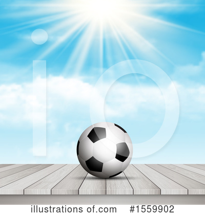 Royalty-Free (RF) Soccer Clipart Illustration by KJ Pargeter - Stock Sample #1559902