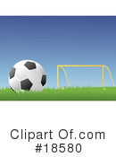 Royalty-Free (RF) Soccer Clipart Illustration #18580