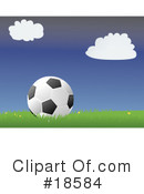 Royalty-Free (RF) Soccer Clipart Illustration #18584