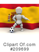 Royalty-Free (RF) soccer Clipart Illustration #209699