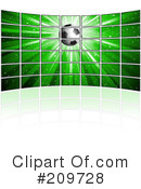 Royalty-Free (RF) Soccer Clipart Illustration #209728