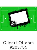 Royalty-Free (RF) Soccer Clipart Illustration #209735