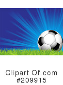 Royalty-Free (RF) Soccer Clipart Illustration #209915