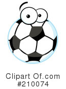 Royalty-Free (RF) Soccer Clipart Illustration #210074
