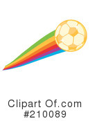 Royalty-Free (RF) Soccer Clipart Illustration #210089