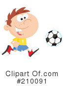 Royalty-Free (RF) soccer Clipart Illustration #210091