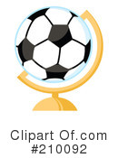 Royalty-Free (RF) Soccer Clipart Illustration #210092
