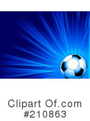 Royalty-Free (RF) Soccer Clipart Illustration #210863