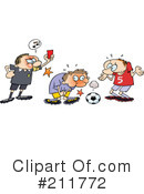 Royalty-Free (RF) Soccer Clipart Illustration #211772