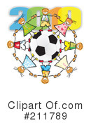 Royalty-Free (RF) Soccer Clipart Illustration #211789