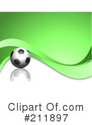 Royalty-Free (RF) Soccer Clipart Illustration #211897