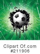 Royalty-Free (RF) Soccer Clipart Illustration #211906