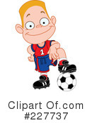 Royalty-Free (RF) soccer Clipart Illustration #227737
