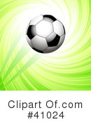 Royalty-Free (RF) Soccer Clipart Illustration #41024