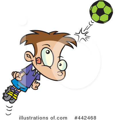 Royalty-Free (RF) Soccer Clipart Illustration by toonaday - Stock Sample #442468