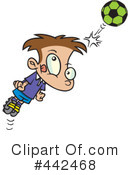 Royalty-Free (RF) Soccer Clipart Illustration #442468