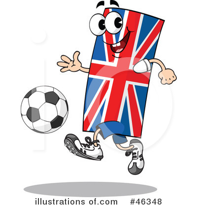 Royalty-Free (RF) Soccer Clipart Illustration by Holger Bogen - Stock Sample #46348