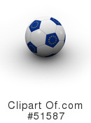 Royalty-Free (RF) Soccer Clipart Illustration #51587