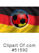 Royalty-Free (RF) Soccer Clipart Illustration #51592
