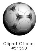 Royalty-Free (RF) Soccer Clipart Illustration #51593