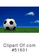 Royalty-Free (RF) Soccer Clipart Illustration #51601