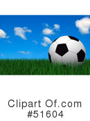Royalty-Free (RF) Soccer Clipart Illustration #51604