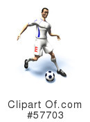 Royalty-Free (RF) soccer Clipart Illustration #57703