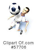 Royalty-Free (RF) soccer Clipart Illustration #57706