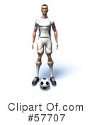 Royalty-Free (RF) soccer Clipart Illustration #57707