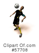 Royalty-Free (RF) soccer Clipart Illustration #57708