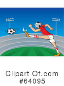 Royalty-Free (RF) soccer Clipart Illustration #64095