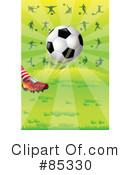 Royalty-Free (RF) soccer Clipart Illustration #85330