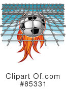 Royalty-Free (RF) Soccer Clipart Illustration #85331