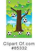 Royalty-Free (RF) Soccer Clipart Illustration #85332