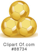 Royalty-Free (RF) Soccer Clipart Illustration #88734