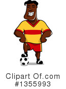 Royalty-Free (RF) Soccer Player Clipart Illustration #1355993