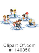 Royalty-Free (RF) Social Networking Clipart Illustration #1140350