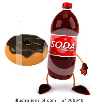 Soda Bottle Character Clipart #1306646 by Julos